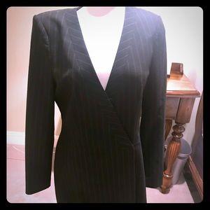 BCBG Max Azria Pinstriped Coatdress - Size M